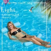Swimming Pool beach 1PC Outdoor PVC Floating Sleeping Bed Water Hammock Lounger Chair Float Inflatable Air Mattress  AccessoriesSwimming Pool beach KO_14_1