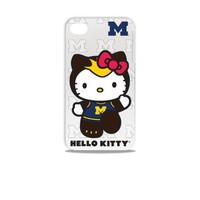 Tribeca Gear FVA7002 Hard Shell Case for iPhone 4 -  Hello Kitty - Michigan University - 1 Pack - Retail Packaging - White