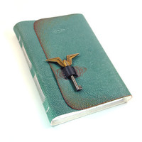 The Aviator - Leather Journal - Turquoise Blue Handbound Notebook