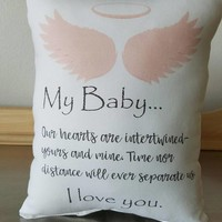 Miscarriage Gift Pillow Baby Memorial Throw Pillow Loss of Child Gift