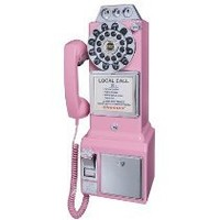 Crosley CR56-PI 1950's Payphone with Push Button Technology (Pink)
