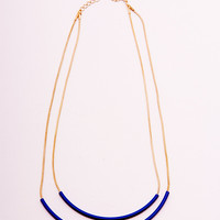 Blue Cylinders Necklace