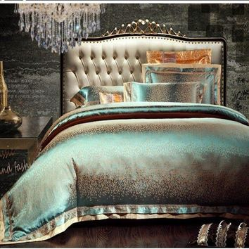 4/6pcs Satin Bedding Set