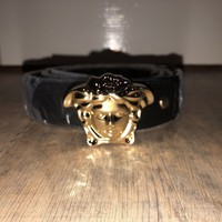 Versace Belt Men's Gold Medusa Head