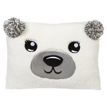 COZY FLEECE POLAR BEAR PILLOW | GIRLS ROOM DECOR GIRL STUFF | SHOP JUSTICE