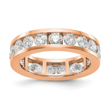 3 Ct. Natural Diamond Womens Eternity Wedding Band Ring in 14k Rose Gold