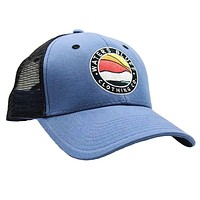 Bluff Horizon Trucker Hat in Slate Blue & Black by Waters Bluff