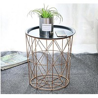 Stylish Round Net Design Coffee Table