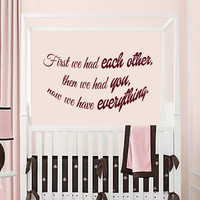 Wall Decals Quote Words Nursery Baby Room Love Vinyl Decal Sticker Decor KG689