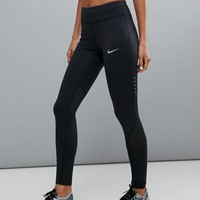 VONE05T9 Nike Running Power Epic Lx Leggings With Mesh Panels
