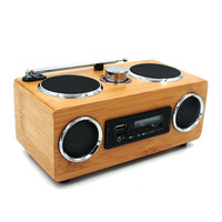 Bamboo Wireless Portable Speaker Caixa MP3 Player Radio FM USB Subwoofer Speakers MP3 600 watts HIGH POWER AUDIO OUTPUT