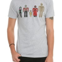 Marvel Guardians Of The Galaxy Minimalist Lineup T-Shirt
