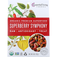 Essential Living Foods Snack Mix - Organic - Superberry Symphony - Dried - Raw - 8 Oz - Case Of 6