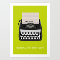 the perks of being wallflower Art Print by Live It Up