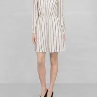 & Other Stories | Flounced Collar Dress | Off white