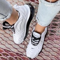 Nike Air Max 720 Fashion Men Casual Air Cushion Running Sport Shoes Sneakers White