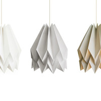 Origami Lamp | Plain Light Taupe | Design Lampshade | FREE SHIPPING