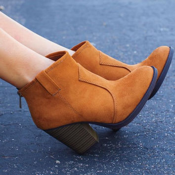 Rebel Booties - Tan