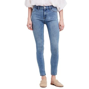 We The Free by Free People - Long and Lean High Waist Denim Leggings in Light Wash