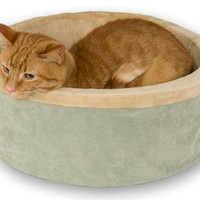 Thermo Kitty Heated Cat Bed - Large/Sage