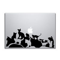 Decal for Macbook Pro Sticker Vinyl air funny mac 13 15 11 skin cats pussy