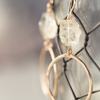 Muse Stone and Hoop Earring