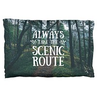 Hiking Always Take the Scenic Route Pillow Case