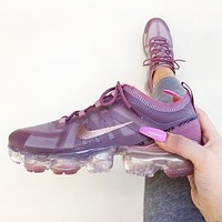 Bunchsun Nike Air Vapormax 2019 Trending Women Air Cushion Jelly Transparent Sport Shoes Sneakers Purple