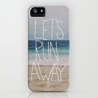 Let's Run Away: Sandy Beach, Hawaii iPhone & iPod Case by Leah Flores