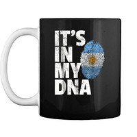 IT'S IN MY DNA Argentina Flag Christmas Gift For Mom Mug