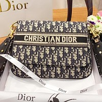 Hipgirls Dior Fashion New more letter canvas shopping leisure crossbody bag shoulder bag