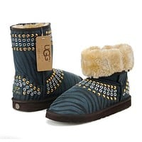 UGG Women Fashion Leather Winter Snow Boots Half Boots Shoes