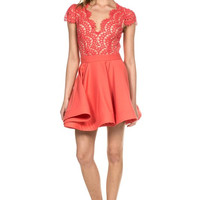 Suki Eyelash Lace Flare Dress