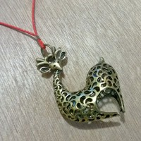 Bronze Charm -Deer (Heart Shaped) from Pelhuaz by Red
