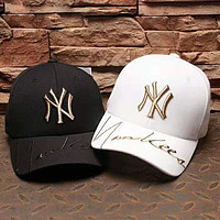 MLB street fashion men and women embroidered letter cap baseball cap