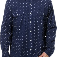 Obey Stanford Long Sleeve Button Up Shirt