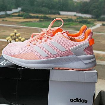 Adidas Questar Ride knitted running shoes Pink,Orange