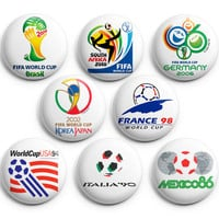 World Cup 1986-2014 Brazil is coming 2014 Pinback Buttons Badge 1.25 inches ,New