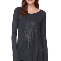 Element Bowery Long Sleeve T-Shirt - Womens Tee - Black