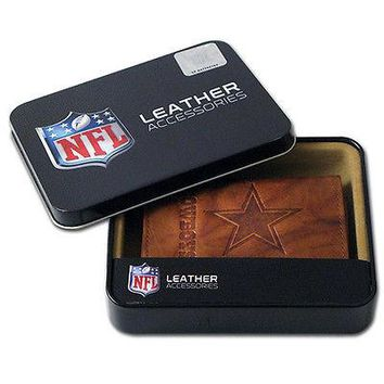 Dallas Cowboys NFL Embossed Leather Trifold Wallet ~ New