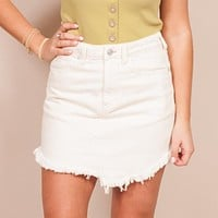 Free People - Bailey Denim Mini Skirt