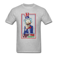 Rick and Morty- 4th of July Collection- Rick and Morty I Want You T-Shirt