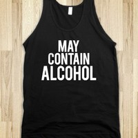 May Contain Alcohol (Dark Tank Top) |