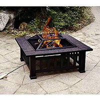 Patio Fire Pit with Cover
