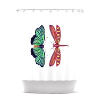 """Catherine Holcombe """"Haland Red"""" Shower Curtain"""