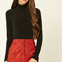 Stretch-Knit Turtleneck Top
