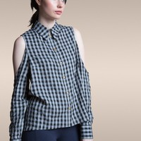 50% OFF: The Dee Blouse in Organic Plaid