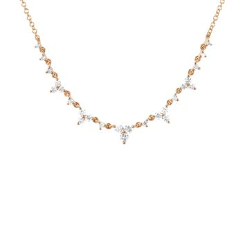 Diamond Trio Tiara Necklace | Marissa Collections