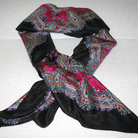 Vintage Ladies Paisley Scarf, Women's Accessory, Neck Scarf, Head Scarf, Women's Scarf, Specialty House Scarf