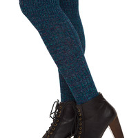 Farrah Over The Knee Socks - Blue